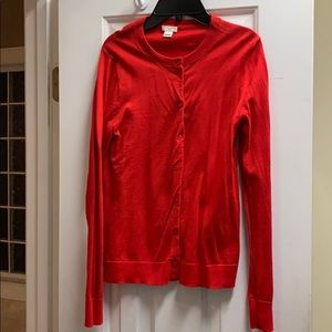 Red J.Crew cardigan-small